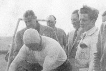 Norman with Fangio